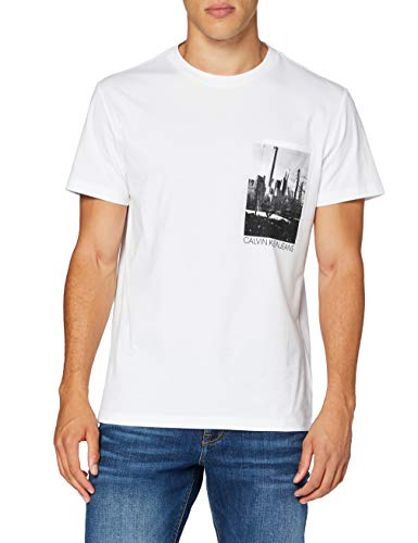 Calvin Klein Jeans Herren Ny Photoprint Pocket Tee Hemd, White, XL