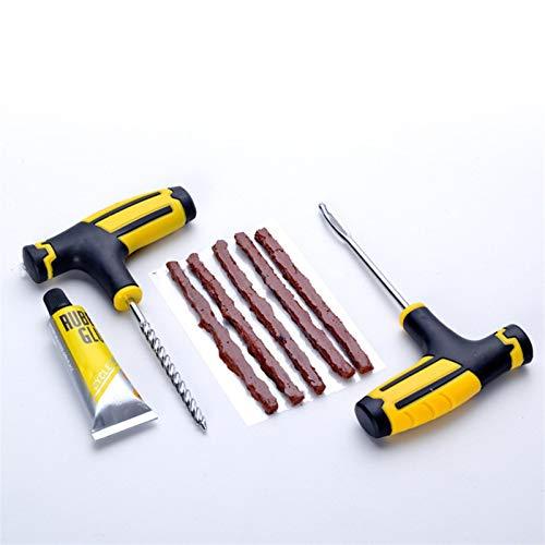 ooege Kit de Herramientas de Herramienta de Coche neumático de la Bici de reparación automática de Juego sin cámara Neumático Neumático punción Plug Reparación (Color : Repair Set 2)