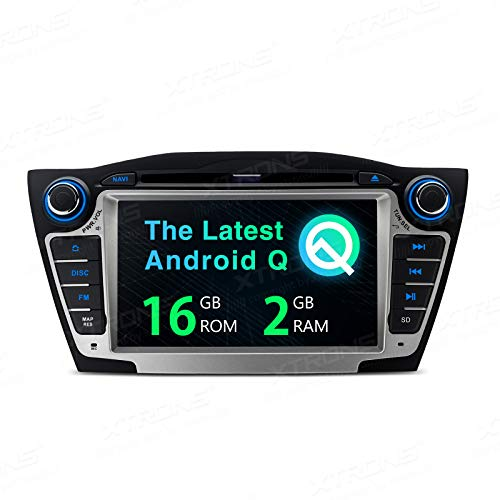 "XTRONS 7"" Android Autoradio mit Touchscreen Android 9.0 Quad Core DVD Player Full RCA Ausgang WiFi 4G Bluetooth 2GB RAM 16GB ROM DAB OBD2 Lenkradsteuerung TPMS FÜR Hyundai IX35/Tucson (Autoradio)"