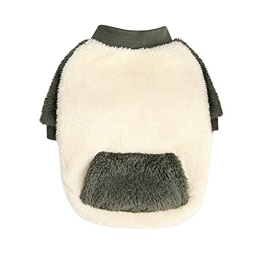 ChYoung Suter de invierno clido para perro, suteres, abrigo de forro polar, chaqueta de clima fro, para mascotas, ropa de dormir para cachorros