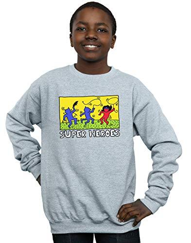 DC Comics Niños Batman Pop Art Camisa De Entrenamiento Deporte Gris 12-13 Years