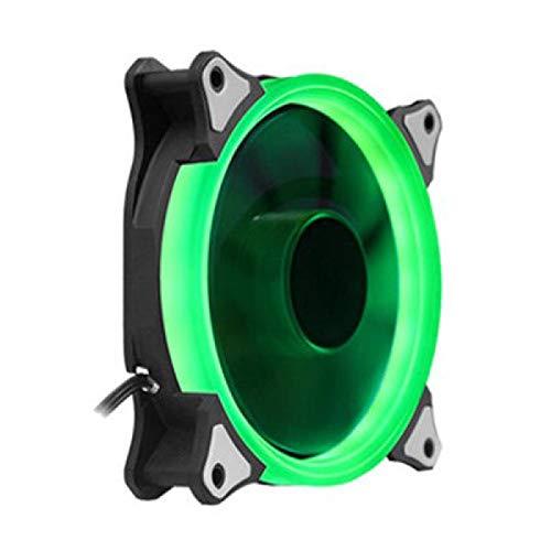 xiaoxioaguo Aurora - Ventilador para ordenador de sobremesa (12 cm, luz LED ultra silenciosa)