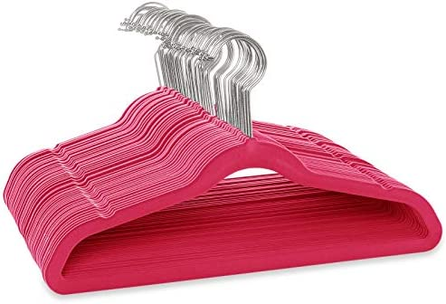 Casafield 50 Velvet Kid s Hangers 14 Size for Children s Clothes Pink product image