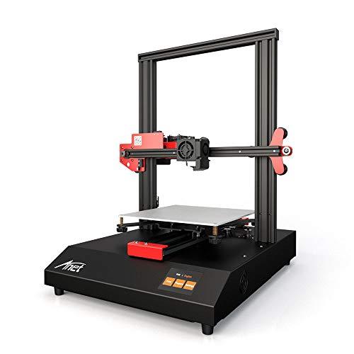 Leslaur Structure de cadre en métal pour imprimante 3D Anet ET4 Volume de construction 220*220*250 avec écran tactile couleur de 2,8 pouces Carte chauffante 8G TF et support en échantillon en PLA 10m