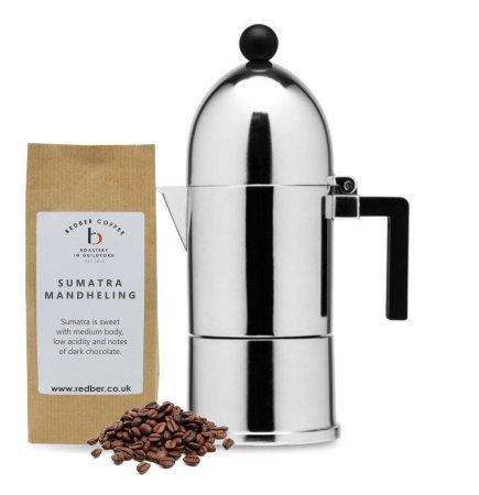 Alessi La Cupola Espressokocher von Aldo Rossi für 3 Tassen mit 125 g Kaffee