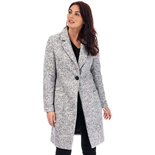 ONLY Damen Onlastrid Marie Coat OTW Mantel, Grau (Medium Grey Melange Medium Grey Melange), Small (Herstellergröße:S)
