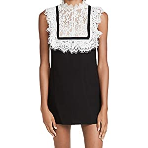 Self Portrait Women's Fine Lace Crepe Mini Dress