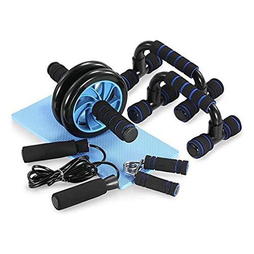 Dynamovolition Home Gym Übungs-Set Bauchtrainer Roller Wheel 8 Way Resistance Band Loop Band Loop Jump Seil Set