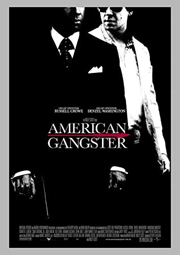 AMERICAN GANGSTER MOVIE POSTER 2 Sided ORIGINAL FINAL 27x40 DENZEL WASHINGTON RUSSELL CROWE