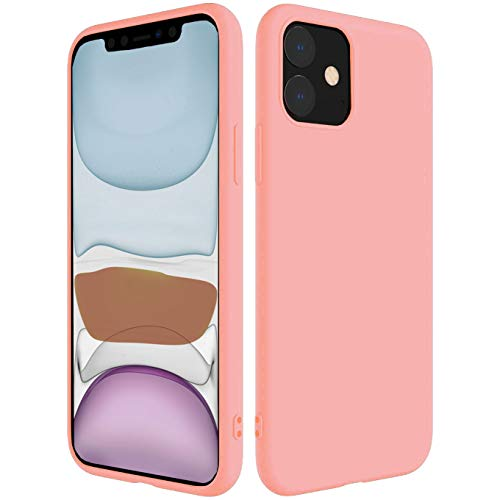 iBarbe Compatible with iPhone 11 PRO MAX 6.5 Inch Case, Soft Silicone Gel Rubber Bumper Case Anti-Scratch Microfiber Lining Phone Bumper with Anti-Scratch Shockproof Protective Cover - Pink