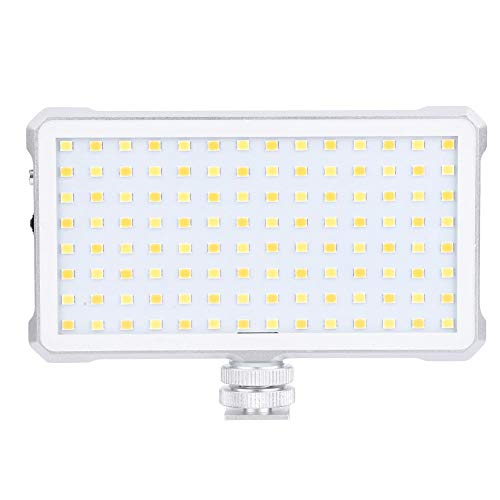 Dimbare 3200-5600 K 112 LED-Lichtlamp, Draagbare Ultralichte Live Fill LED-Lamp, Type-C USB-Videocamera Aluminium LED-Licht Compatibel met Telefoon/Camera voor Interview/live/Fotografie, enz
