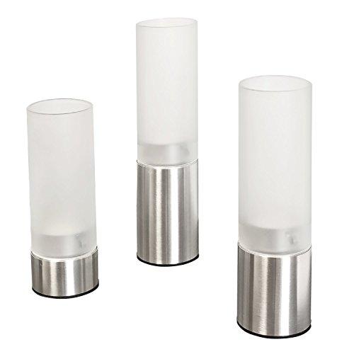 bremermann Kerzenhalter, Kerzenständer, Kerzenleuchter (mit satiniertem Glas)