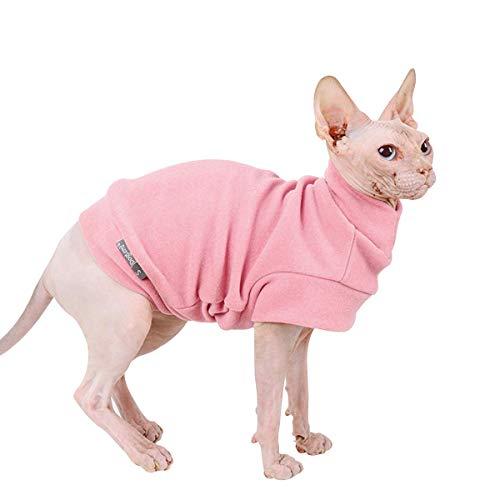Dociote Hund Pullover - weiche und warm T-Shirt Hunde Winter Kleidung Mantel Katzenpullover für kleine Hunde Katzen S Rosa