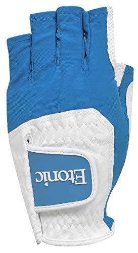 Etonic Golf Ladies LLH G-SOK Half Finger Multi Fit Glove White/Aqua Blue