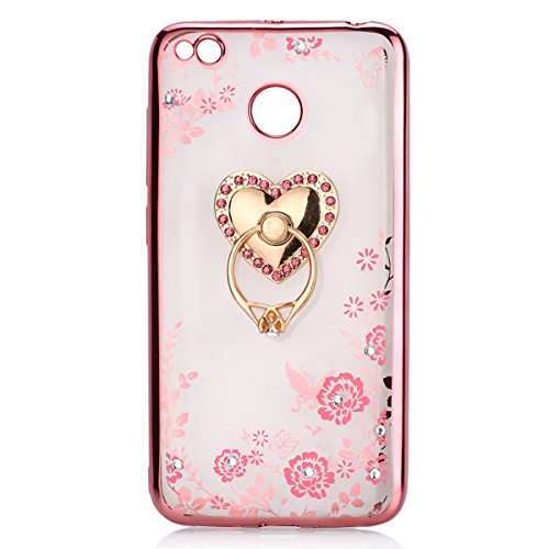 Uposao Compatible avec Huawei Honor Note 8 Coque Transparent Liquid Crystal Premium Souple TPU Silicone Coque Paillette Strass Bling Glitter Clear Vie