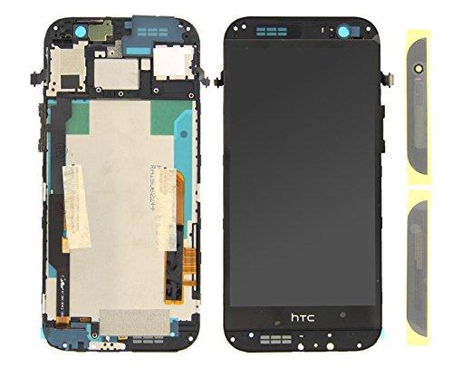 Handyteile24 ✅ LCD Display Anzeige Bildschirm Digitizer Touch Glas Touchscreen Rahmen in Grau für HTC One M8