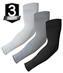 ULTIMATE UV PROTECTION - We all know the sunscreen game - apply, reapply, reapply… Well, not anymore! This UV Sun Protection Arm Sleeves boasts a UPF 50+ rating for uncompromising sun protection while you're cornering the next turn. Whether you're sh...