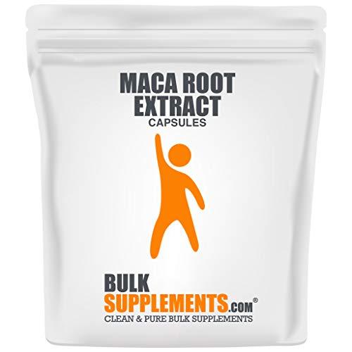 BulkSupplements.com Maca Root Extract Powder - Keto Flour - Smoothie Powder - Antioxidant Powder - Gelatinized Maca Powder (300 Gelatin Capsules)