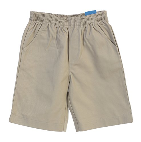 unik Boys All Elastic Waist Pull up Shorts Khaki Size 8
