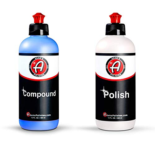 Adams 2-Step Polishing System 12oz Combo - Silicone-Free, Body Shop Safe Formula - Quick, Professional Correcting and Polishing Results for Clear Coat, Gel Coat, Single Stage Finishes