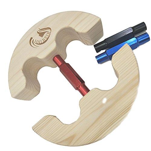 Haibeir Hut-Stretcher, Hut-Dehner, verstellbar, robust, einfach zu verwenden, Größen: 16,5 cm bis 24,1 cm rot