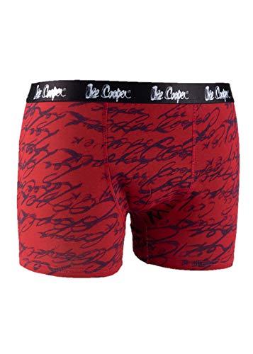 Lee Cooper Herren 2-er Pack Boxershorts, Rot, Regular
