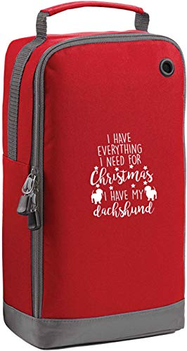 Flox Creative Red Sports Shoe Bag Everything I Need For Christmas Dackel Vertikaler Druck