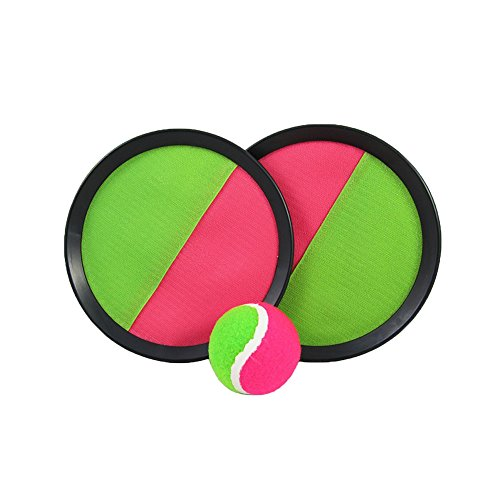 "Sport Ball - Paddle Catch and Toss Game Set- 7"" Handheld Stick Disc - 1 Set - Manufactured by Toy Cubby!"