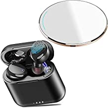 TOZO W1 Wireless Charger Gold & T6 Wireless Earbuds Black