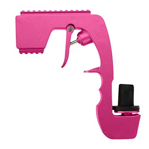 Pistola de champán Bubbly Blaster, tapón de vino, dispensador de vino de champán, vertedor de aireador de vino, botella de fuente, eyector de cerveza para fiestas de cumpleaños(Rosa)