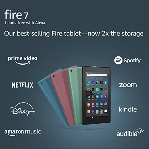 """Fire 7 tablet, 7"""" display,..."""