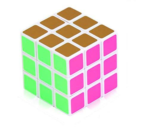 Cubo De Patinaje De Velocidad De Tercer Orden, Juguete Educativo Para Niños (Cubo Fluorescente 3X3), Un Cubo De Descompresión De Desarrollo Intelectual De Tercer Orden Estable Y En Constante Cambio