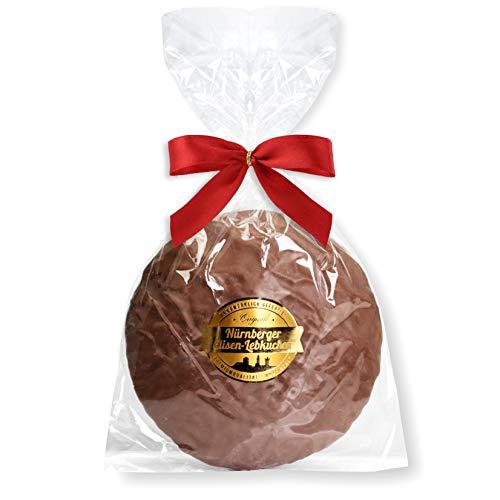 Nürnberger Elisenlebkuchen, einzelverpackt- 80g - Vollmilch Schokolade - Premium Qualität - Weich & Saftig! - Elisen-Lebkuchen ohne Mehl - Original Elisenlebkuchen Saftig Lebkuchenwelt