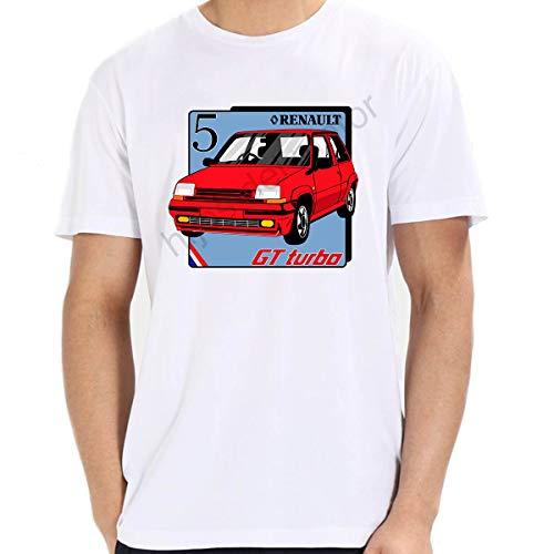 Camiseta r5 GT Turbo (Blanco, XL)