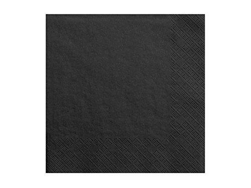 Servietten, 3-lagig, schwarz, 33x33cm, 20 Stck./Pckg. SP33-1-010
