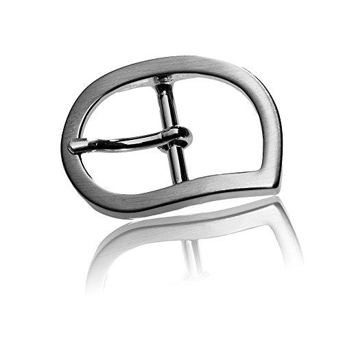 Gürtelschnalle Buckle 20mm Metall Silber Poliert - Buckle Drop - Dornschliesse Für Gürtel Mit 2cm Breite - Silberfarben Poliert