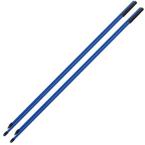Golfübungsstifte Fiberglas Golf Alignment Sticks 2 Abschnitte Faltbare Golfrichtungsanzeige Rod Aid(Blau)