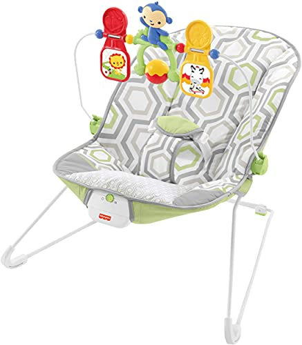 Fisher-Price Baby Bouncer - Geo Meadow, Infant Soothing and Play Seat, Multi