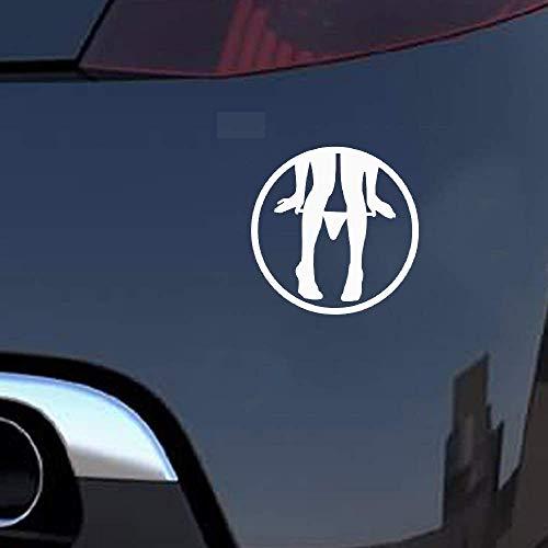 8x8Cm Panty Dropper Auto Sticker Stickers Leuke Cartoon Motorcy voor Auto Laptop Window Sticker
