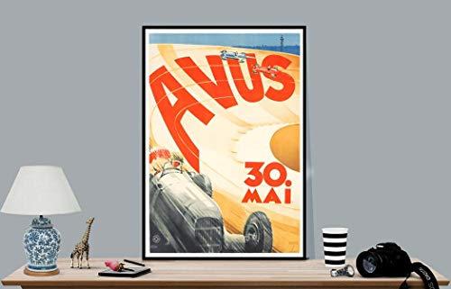 Póster vintage de Avus de Ludwig Hohlwein, póster sin marco, lienzo –...