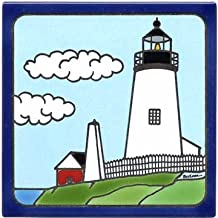 product image for PEMAQUID Point Lighthouse Tile, PEMAQUID Point Lighthouse Wall Plaque, Lighthouse Trivet LH-5