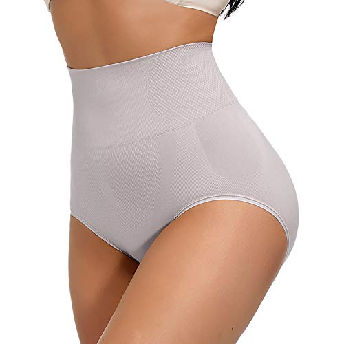 Ghemdilmn Ropa interior sexy para mujer, cintura alta, control de abdomen, forma de glúteos, moldeador de figura, ropa interior sexy gris Tallaúnica