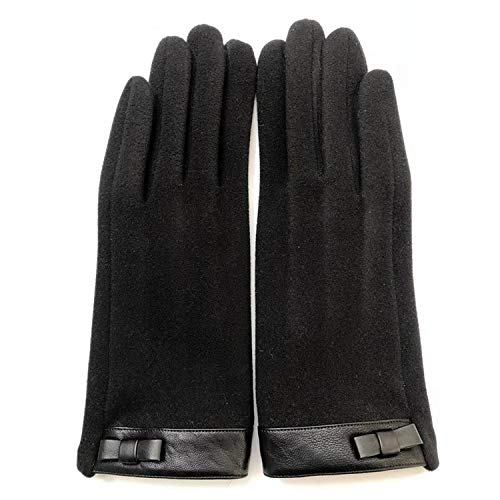 Hanggg Moda para mujer más guantes cálidos de terciopelo con guantes resistentes al frío