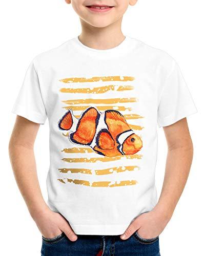 style3 Clownfisch T-Shirt für Kinder Dorie Pazifik nemo südsee Aquarium aquarien, Größe:116