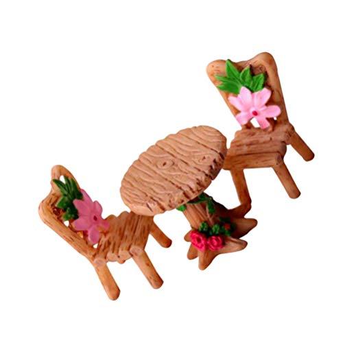 Homoyoyo 1 Juego de Taburete de Casa de Muñecas 1 12 Muebles de Casa de Muñecas Banco Modelo Silla de Mesa en Miniatura para Jardín de Hadas Micro Paisaje Decoración de Macetas de Plantas