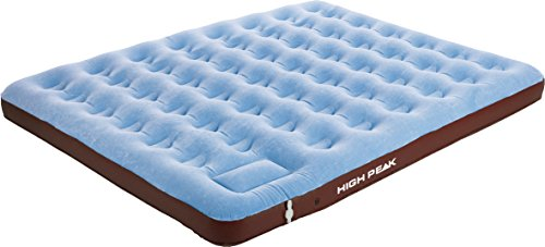 High Peak Cross Beam Double Extra Long Camping Outdoor Gris//Bleu Matelas Gonflable Adulte Unisexe 210x140x20 cm Airbed