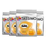 Tassimo Café HAG Crema Decaffeinated, Pack of 4, 4 x 16 T-Discs