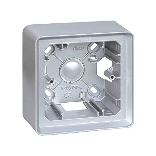 Simon 8200750-093 - Caja Superficie 1 Elem. Aluminio Frio
