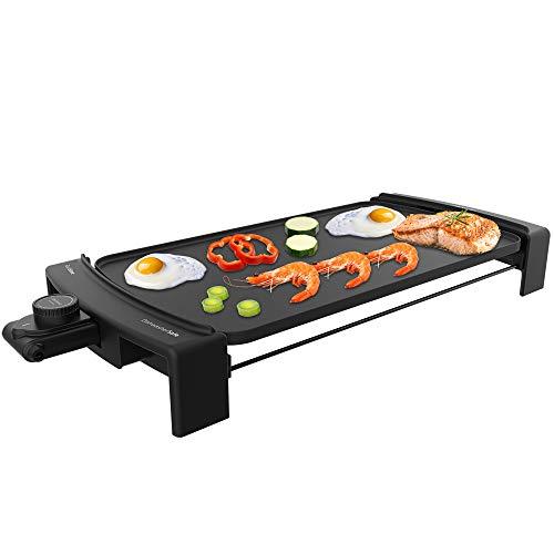 Cecotec Plancha de Asar Tasty&Grill 3000 Blackwater. Potencia 2600 W, Resistencia en E, Termostato Regulable, Apta para lavavajillas