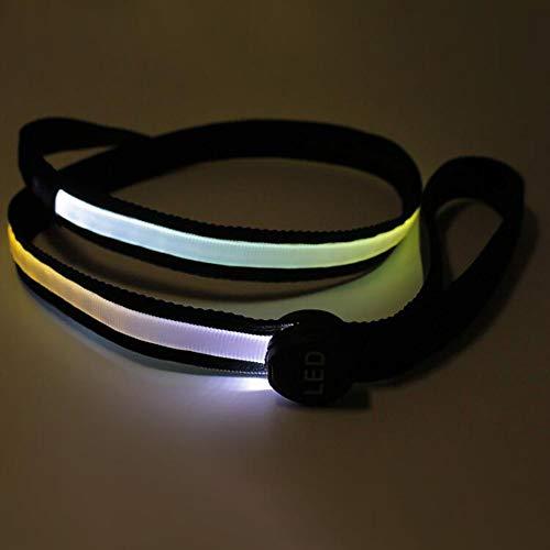 MARXIAO Beste Hundegeschirr, Android USB-Lade Weaving wasserdichte Led Optical Fiber Illuminate Hundeleine,E
